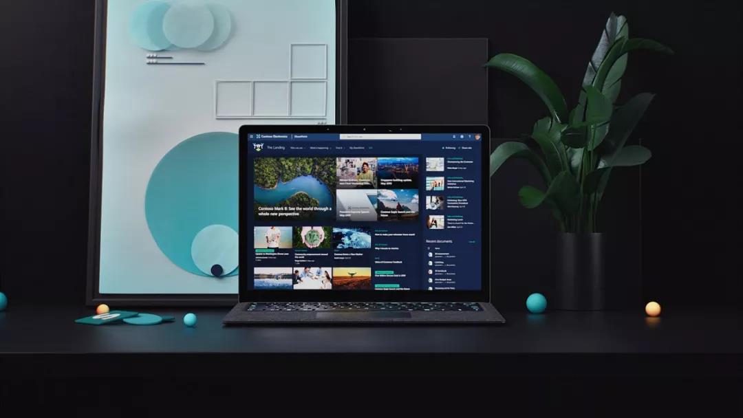 微软交互界面动态设计,立体三维风格,材质很棒