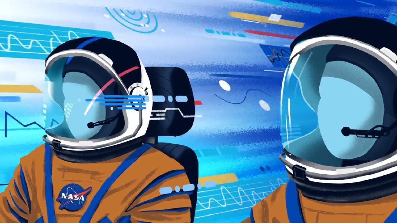 5分钟插画风格MG动画,关于航天技术的介绍