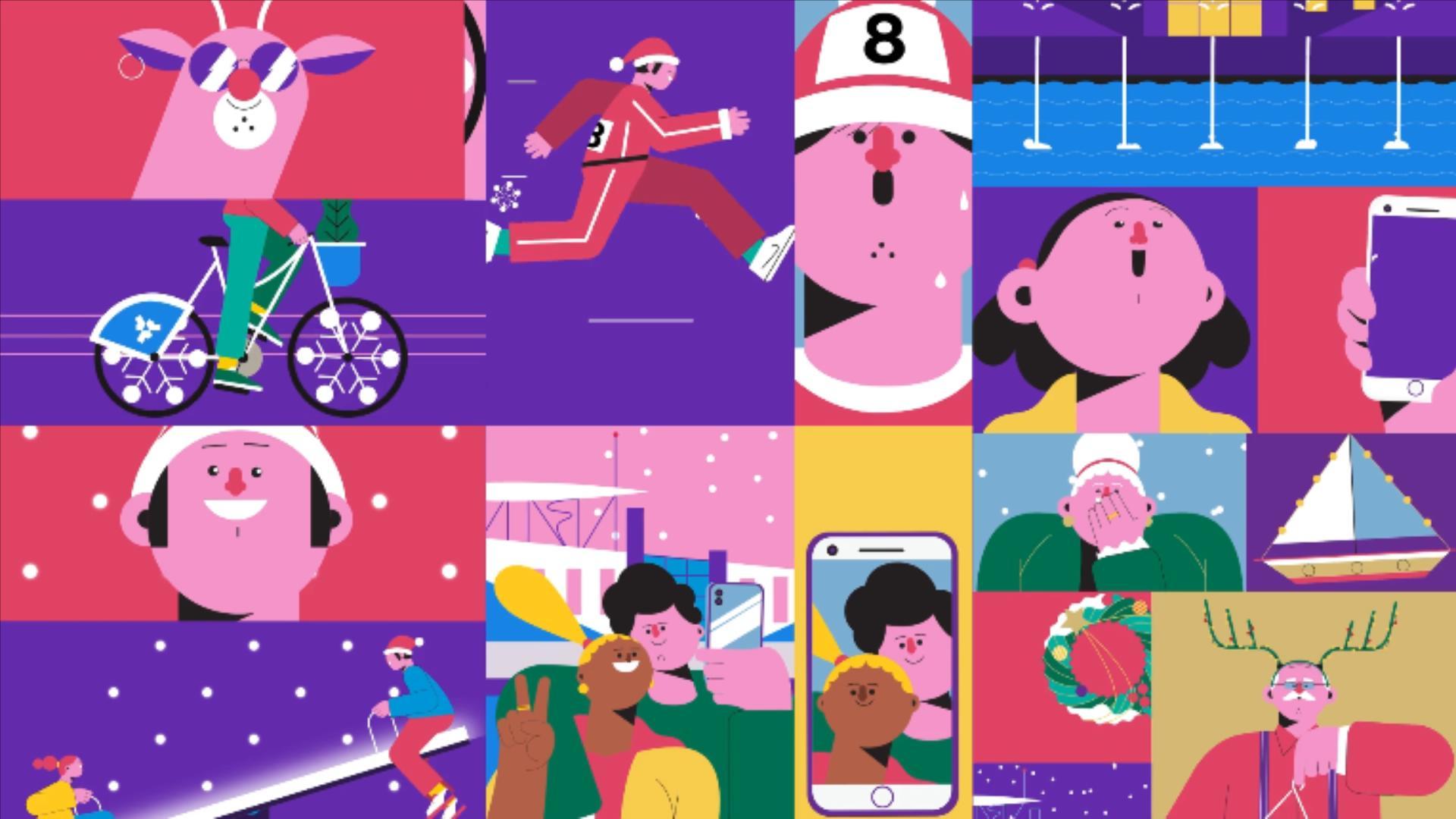 圣诞主题可爱风格的MG动画