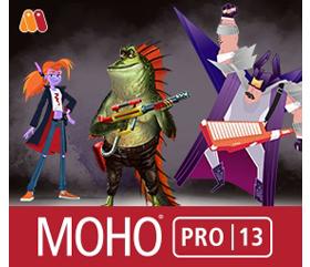 二维卡通动画制作软件Smith Micro Moho Pro v13.0.2 Win/Mac中文破解版