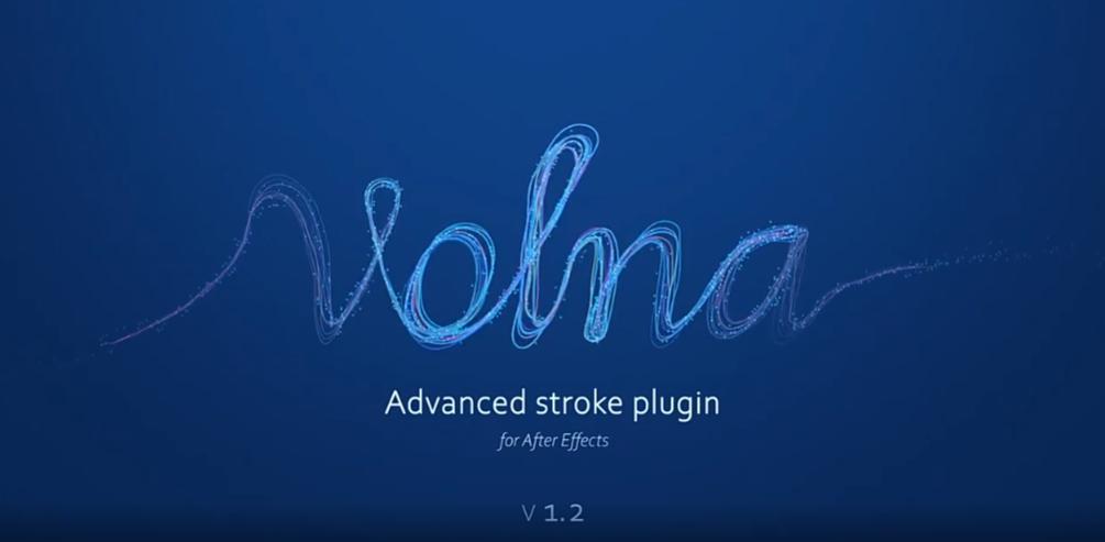 中文汉化AE插件-动态线条路径描边绘制生长动画 Volna v1.3 Win