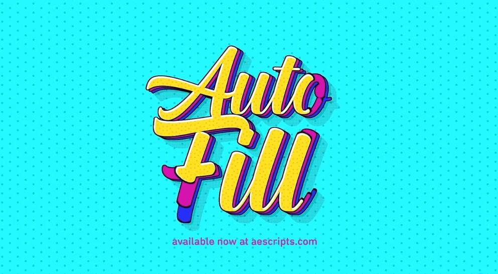 中文汉化AE插件-图层边界自动填充生长动画插件 AutoFill v1.1.1 Win